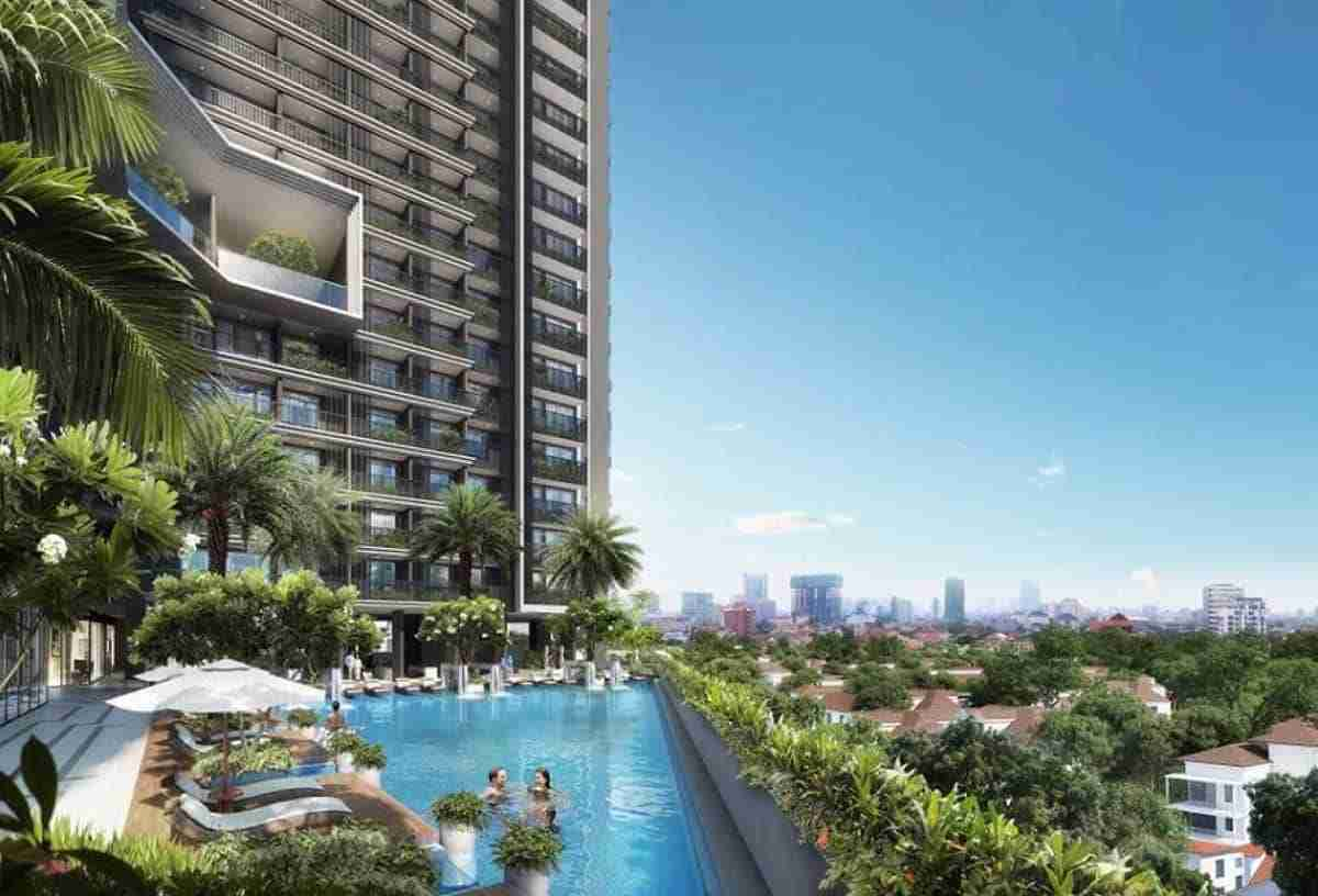 Royal Platinium Condominium Cambodia Pool View