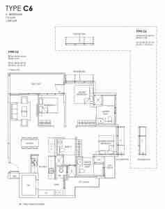 Provence Residence Floor Plan Type C6
