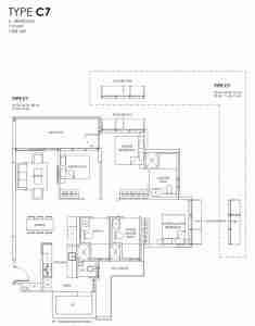 Provence Residence Floor Plan Type C7