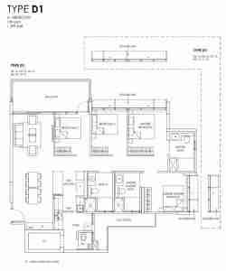 Provence Residence 4 bedroom Floor Plan D1
