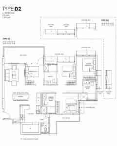 Provence Residence 4 bedroom loor Plan Type D1