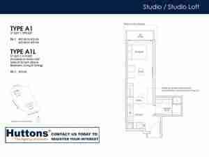 Irwell Hill Residences Floor plan Studio Type A1