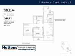 Irwell Hill Residences Floor plan 2 bedroom Type B1