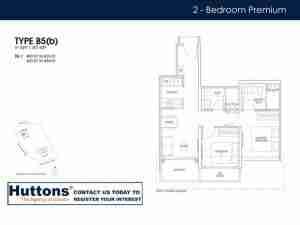Irwell Hill Residences Floor plan 2 bedroom Type B5