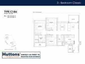 Irwell Hill Residences Floor plan 3 bedroom Type C1