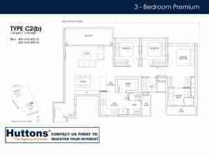 Irwell Hill Residences Floor plan 3 Bedroom Type C2