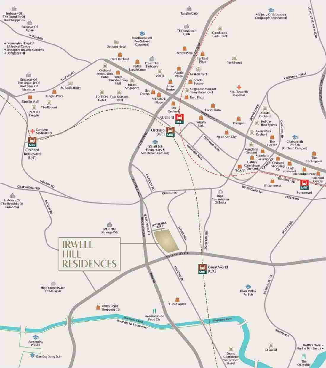 Irwell Hill Residences Location Map